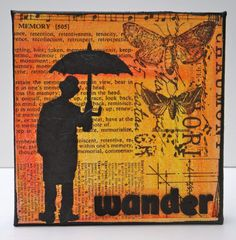 Mixed Media Canvas Art Wander by MarjieKemperDesigns on Etsy, $35.00