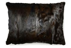 Sara 24x31 Hide Pillow, Natural on OneKingsLane.com
