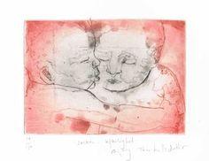 Søskenkjærlighet av Bjørg Thorhallsdottir m/ramme Art, Art Background, Kunst, Performing Arts, Art Education Resources, Artworks