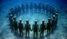 Los jardines de esculturas submarinas de Jason de Caires
