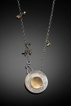 Tavia Brown Exhibiting member in Jewelry Metal Clay Jewelry, Metal Necklaces, Jewelry Art, Pendant Jewelry, Jewelry Necklaces, Jewelry Design, Silver Jewellery, Fine Jewelry, Precious Metal Clay