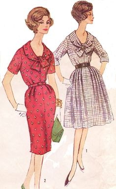 60s Simplicity Sewing Pattern 3575 Womens One Piece by CloesCloset, $14.00