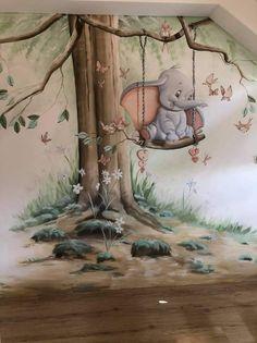 Disney Baby Rooms, Disney Nursery, Baby Disney, Room Wall Painting, Kids Bedroom, Wall Murals, Animation, Wallpaper, Drawings