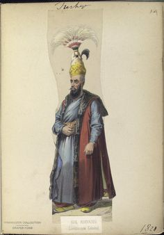 The Vinkhuijzen collection of military uniforms / Turkey, See McLean's Turkish Army of Turkish Military, Turkish Army, Military Costumes, Military Uniforms, Turkish Soldiers, Lieutenant General, Ottoman Empire, New York Public Library, Turkey