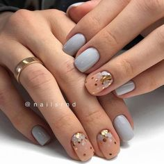 Nail art Christmas - the festive spirit on the nails. Over 70 creative ideas and tutorials - My Nails Perfect Nails, Gorgeous Nails, Love Nails, Pretty Nails, My Nails, Matte Nails, Black Nails, Minimalist Nails, Nagel Gel