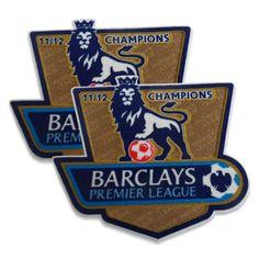 Manchester City 2011/12 English Premier League Champions Player Badge Set (worn 2012/13)