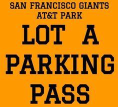 #tickets PARKING PASS LOT A · SAN FRANCISCO GIANTS vs LOS ANGELES DODGERS · FRIDAY 4/27 please retweet