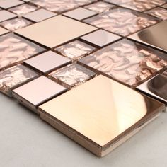 Crystal Glass Tile Sheet Square Diamond Mosaic Design Art Stainless Steel & Glass Blend Metal Backsplash Wall Sticker - All For Decorations Wall Stickers Hd, Kitchen Wall Stickers, Kitchen Colors, Kitchen Backsplash, Kitchen Design, Kitchen Decor, Backsplash Ideas, Tile Ideas, Penny Backsplash