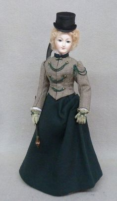 Art Dolls by Alice Leverett Originals:  riding outfit, Seattle Doll and Toy Event