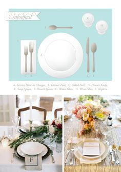 Lessons In Etiquette: Table Settings