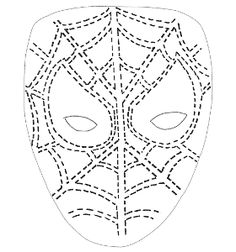Printable Spiderman mask for kids' faces. Painting Templates, Stencil Templates, Stencils, Superhero Face Painting, Girl Face Painting, Spiderman Hoodie, Kids Salon, Halloween Celebration, Army Life