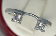 1/4ct Genuine Diamond Wedding Ring Wrap Enhancer Sizes 3-9 10kt White Gold