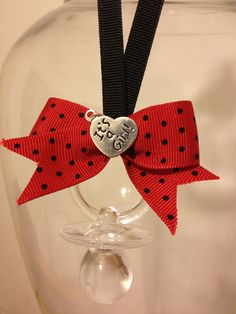 Lady Bug Theme Pacifier Necklace BLACK/RED by MarcenariPartyDecor, $27.99