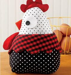 trendy sewing crafts to sell pin cushions Sewing Hacks, Sewing Crafts, Sewing Projects, Chicken Crafts, Chickens And Roosters, Fabric Toys, Diy Couture, Mccalls Sewing Patterns, Door Stop