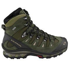 Salomon Quest 4D GTX Hiking Boots- OD Green / Black Footwear - Tactical Distributors- Tactical Gear