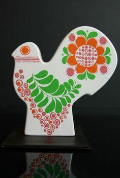Mod •~• vintage Carlton Ware rare floral bird money box