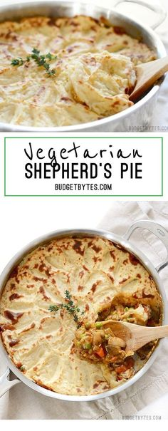 Vegetarian Shepherd's Pie ~ A colorful vegetable medley and a rich brown gravy make this Vegetarian Shepherd's Pie just as satisfying as its beef counterpart.     ** CLICK PIN TO LEARN MORE! ** | Vegetarian | Vegetarian Recipes | Vegetarian Meals  | Vegetarian Recipes Dinner | Vegetarian Meal Prep | Vegetarian Dinner | Vegetarian Recipes Healthy | Vegetarian Recipes Easy | Vegetarian Recipes High Protein  | #masakanibuku