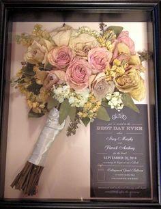 Bouquet Preservation Wedding Ideas Gift Memories Shadowboxwedding