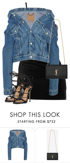 """Untitled #1171"" by daisystylist ❤ liked on Polyvore featuring Balenciaga, Yves Saint Laurent and Dsquared2"