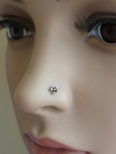 Oxidized flower nose stud by PiercingRoom on Etsy, $8.95