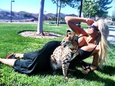 Me and my 8 month old Serval