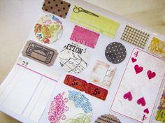 Vintage Style Stickers-Labels-Envelope Seals-Embellishment