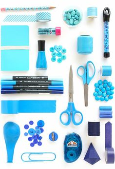 Hello! It's Rachel of Lines Across here to share another color study with you. Today I'm sharing my very favorite color, blue. I especially love the way that different shades of blue look together, an