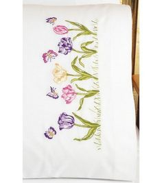 JANLYNN Premium Pillow Cases 2pk for Stamped Embroidery ROSE GARDEN