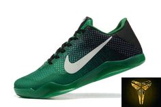 best service 86b3e a3adf 2016 Nike Kobe 11 XI Elite Low Mens Basketball Shoes Green Black Sneakers  Online Cheap For Sale