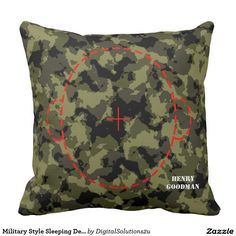 Military Style Sleeping Device Throw Pillow