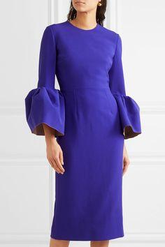 Purple crepe Zip fastening along back 60% polyester, 25% silk, 11% viscose, 4% elastane; lining: 100% silk Dry clean Designer color: Iris Made in Italy