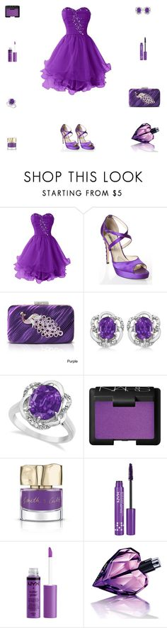 """""""Contest: Violet Prom Outfit"""" by billsacred ❤ liked on Polyvore featuring Brian Atwood, Jacki Design, Allurez, NARS Cosmetics, Smith & Cult, NYX and Diesel"""