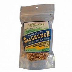 Blueberry Seacrunch High Energy All Natural Snack from Vitaminsea with Organic Kelp Almonds Sesame Seeds Blueberries Maple Syrup Chocolate Blueberry 6 Bars *** Find out more about the great product at the image link.