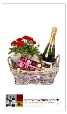 Hampers delivered for mothers day - a little bit of luxury Homemade Gift Baskets, Valentine's Day Gift Baskets, Wine Baskets, Gift Hampers, Homemade Gifts, Basket Gift, Creative Money Gifts, Creative Gift Wrapping, Champagne Gift Baskets