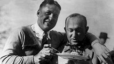 Bobby Jones & Ty Cobb eating some Georgia peach pie