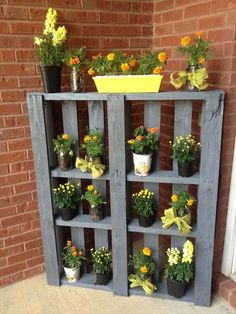 Containers of different shapes and sizes - DIY: Making Your Own Pallet Patio Furniture