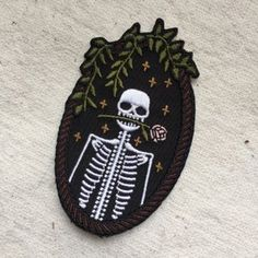 """I need this patch in my life!!! tinycup needleworks' """"jackie"""" patch.  Things you miss when you can't buy things online at your workplace."""