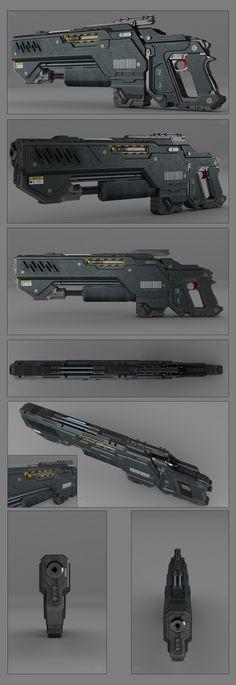 Battle rifle concept weapon by peterku on deviantART - sci-fi gun