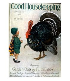 Good Housekeeping magazine cover, November 1927 Buy Good Housekeeping covers