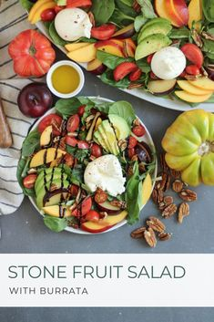 Add color and fresh flavor to your table with this seasonal salad. Pair with fresh burrata or your favorite protein to make it a meal! Best Salad Recipes, Fruit Recipes, Summer Recipes, Real Food Recipes, Vegetarian Recipes, Healthy Recipes, Easy Recipes, Weeknight Recipes, Cookbook Recipes