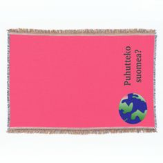 Shop Do you speak Finnish? in Finnish. With globe Throw Blanket created by Parleremo. Finnish Language, Photo Memories, Are You The One, Family Photos, Globe, Goodies, Blanket, Cool Stuff, How To Make