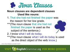 What are noun clauses?