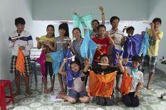 Rock-Paper-Scissors Children's Fund Puppet making