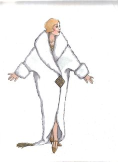 "Drowsy Chaperone (Janet ""Show Off). Costume design by Susan Branch Towne. Vintage Woman, Vintage Ladies, Woman Fashion, Fashion Art, A Little Night Music, Costume Ideas, Costumes, Costume Design, Burlesque"