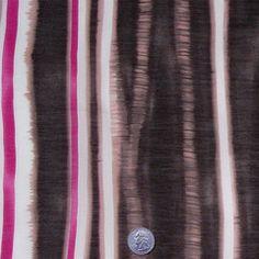 Cotton Stripe Print Voile