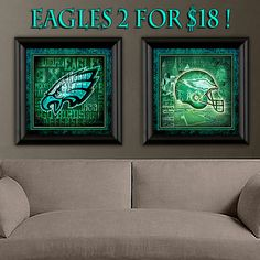 Hey, I found this really awesome Etsy listing at https://www.etsy.com/listing/197753706/philadelphia-eagles-art-prints-2-set-for