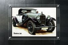 Tatra 31 Classic car Vintage car Old car Retro car Poster Retro poster Car Retro decor Retro print R Cool Car Stickers, Kids Poster, Poster Retro, Retro Print, Professional Photo Printing, Modern Pictures, Car Posters, Retro Cars, Car Wallpapers