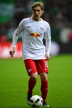 Emil Forsberg of Leipzig in action during the Bundesliga match between Werder Bremen and RB Leipzig at Weserstadion on March 18, 2017 in Bremen, Germany.