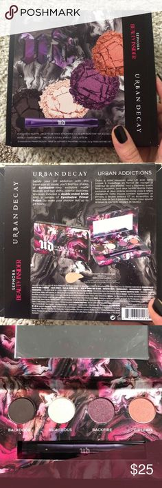 Urban decay urban addictions palette Brand new urban decay palette with double ended brush. The colors are pigmented and beautiful! A great carry on that fits right in your purse! Urban Decay Makeup Eyeshadow