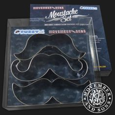 Mustache Cookie Cutter Set by Fuzzy Ink | Fuzzy Ink